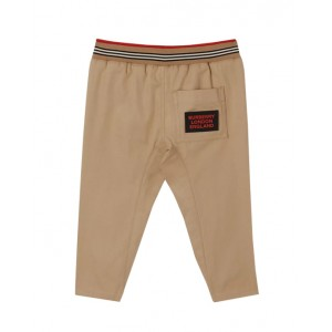 Baby boy icon stripe detail cotton trousers