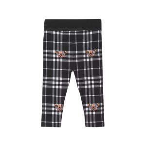 Thomas Bear baby girl print check leggings