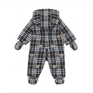 Thomas Bear print nylon puffer suit