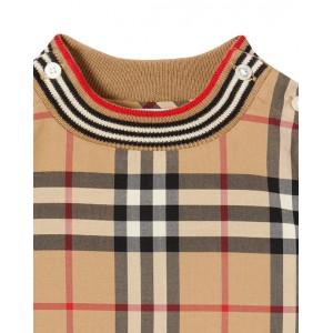 Vintage check cotton jumpsuit