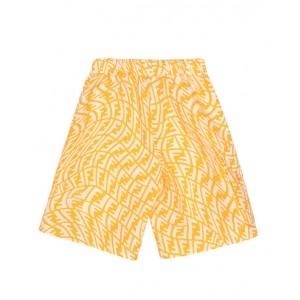 Logo swimming shorts in yellow