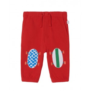 Red cotton drawstring joggers