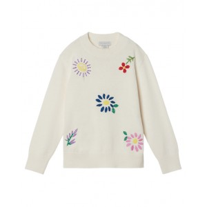 Embroidered flowers jumper