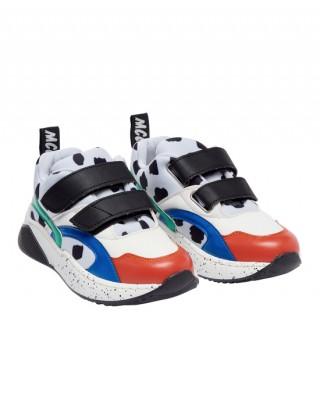 Dalmatian velcro trainers