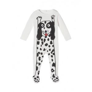 Dalmatian print babygrow