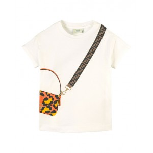 Baguette bag printed T-shirt