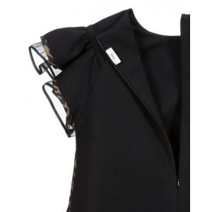 FF logo-print flared dress