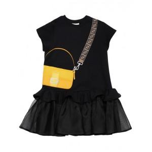 Black baguette bag dress