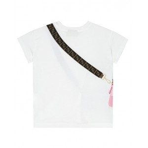 FENDI KIDS Baguette bag printed T-shirt