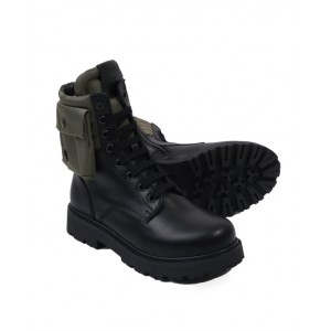 FENDI KIDS Black leather boots