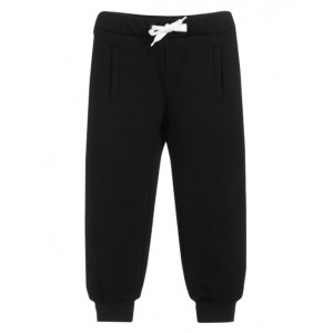 FENDI KIDS Black Cotton Logo Joggers