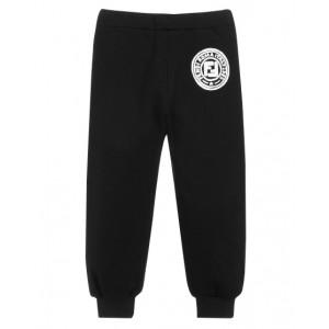 FENDI KIDS Black Cotton Logo Joggers