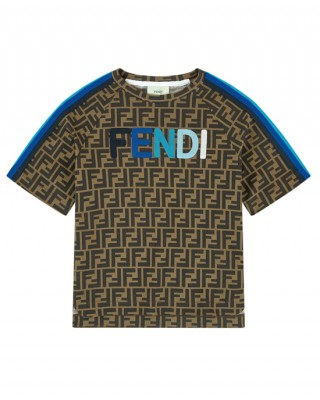 Blue logo and stripes FF T-shirt