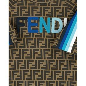 Blue logo and stripes FF T-shirt