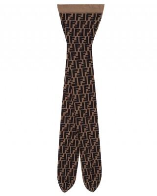 FENDI KIDS Чорапогащник с FF логото на бранда