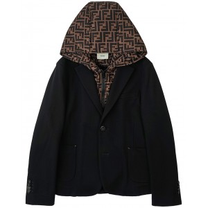 FENDI KIDS Hooded blazer