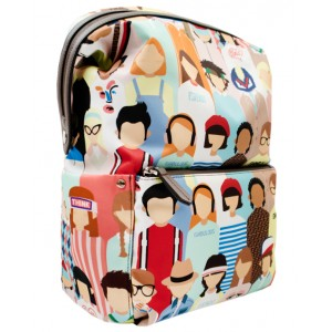 FENDI KIDS Family print backpack