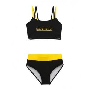 Black and yellow bikini