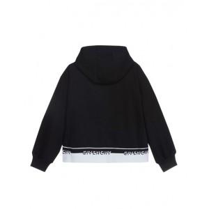 Black logo zip-up top