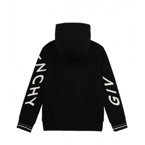 Black zip-up hooded