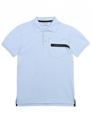 Logo-tape short-sleeve polo shirt
