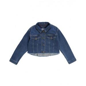 Denim jacket with raw hem