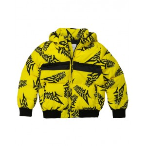 GIVENCHY Bright yellow logo puffer jacket