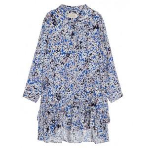 Floral motif shirt dress