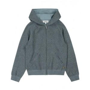 LANVIN Hooded Lurex knit sweatshirt
