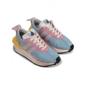 LANVIN Pale blue and pink sneakers