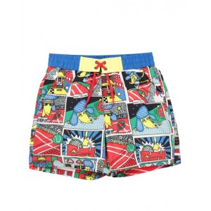 Comic print swim shorts
