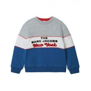 THE MARC JACOBS Grey and blue logo sweatshirt