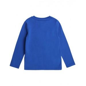 Electric blue comic print T-shirt