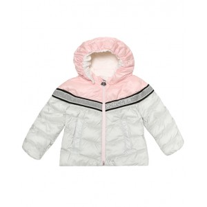 MONCLER Pink and silver down jacket
