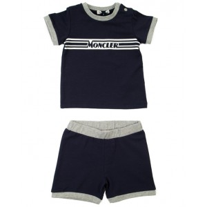 MONCLER Two-piece set T-shirt and shorts