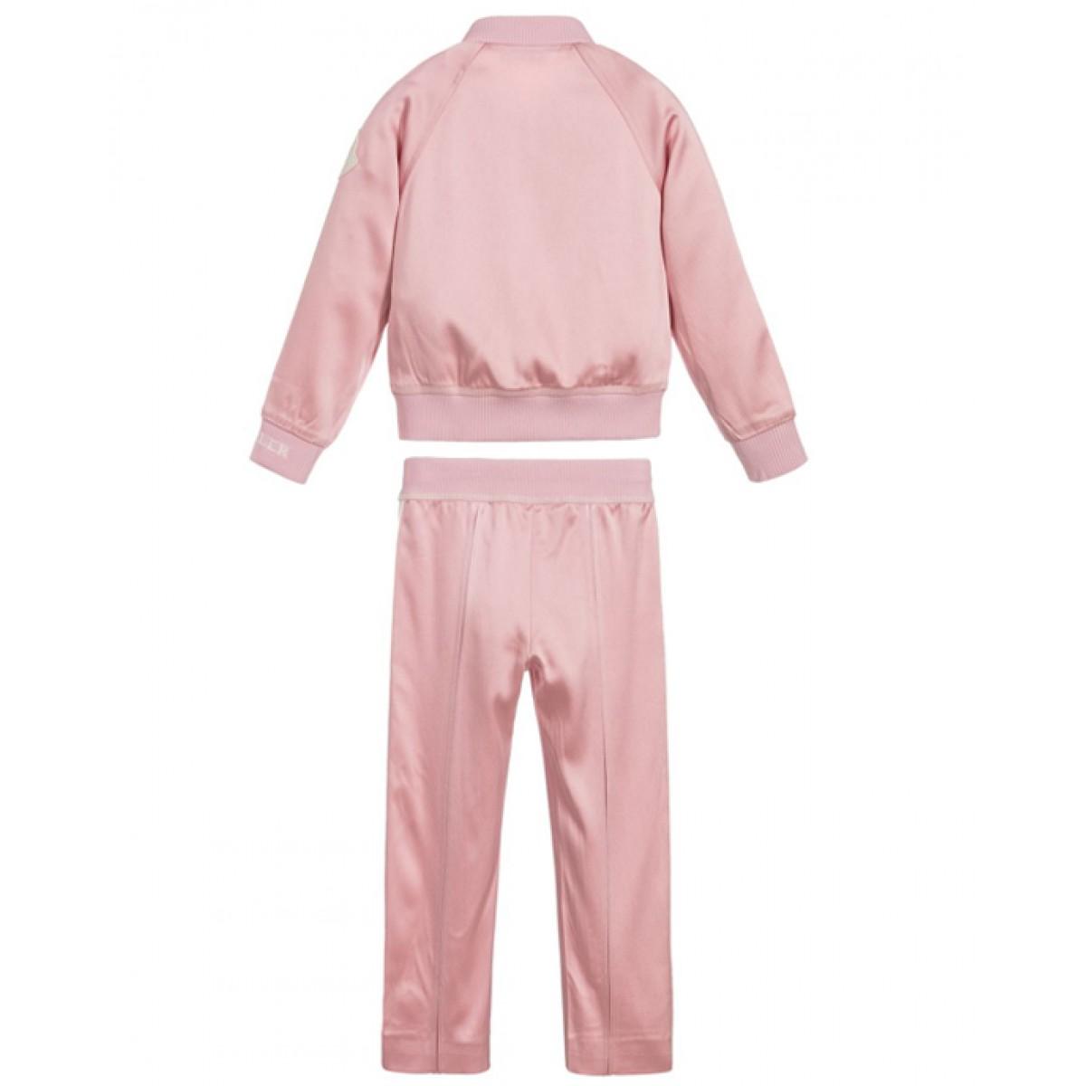 Pink satin tracksuit