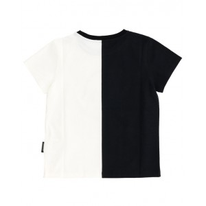 Black and white logo print T-shirt