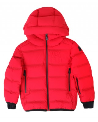 MONCLER Padded jacket embossed with logo