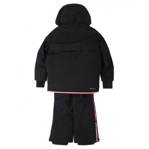 MONCLER Black ski set - jacket and salopettes