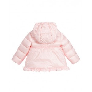 Pink down padded coat