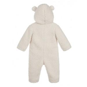 MONCLER Ivory teddy pramsuit