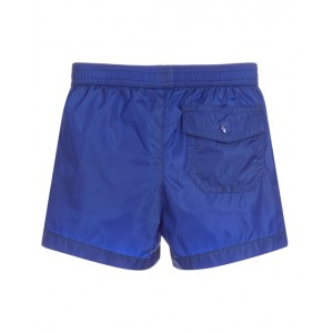 MONCLER Red logo swim shorts