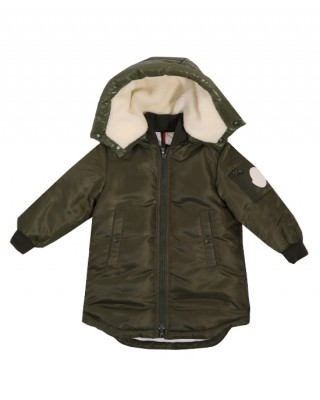 MONCLER Olive green down filled jacket