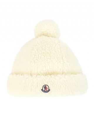 MONCLER White soft hat