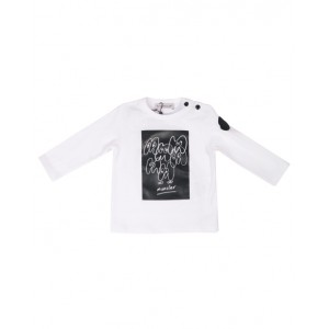 MONCLER Black and white T-shirt