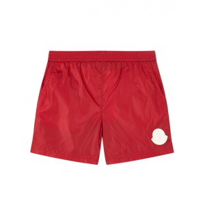 Logo swim shorts in red