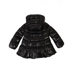 Black shiny jacket with A-line design