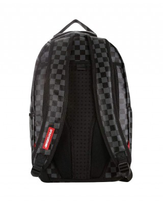 Gray backpack with cool print
