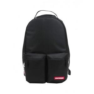 Double cargo side black shark backpack