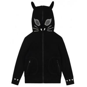 STELLA MCCARTNEY KIDS Cat zip-up hoodie